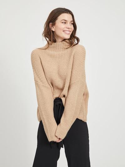 VILA Pullover in hellbraun, Modelansicht