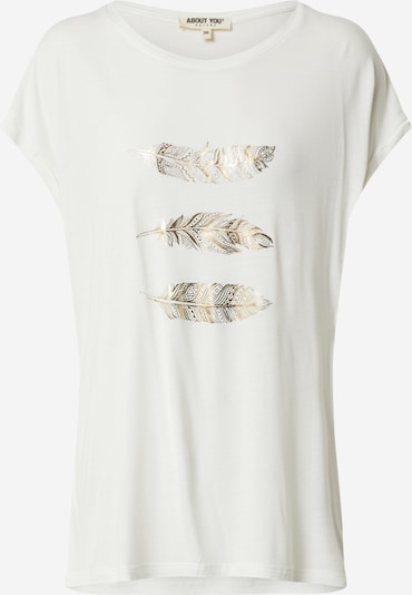 ABOUT YOU Shirt 'Antoinetta' in de kleur Crème / Goud / Wit, Productweergave