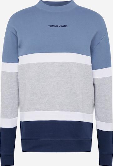 Tommy Jeans Sweatshirt in de kleur Marine / Duifblauw / Grijs gemêleerd / Wit, Productweergave