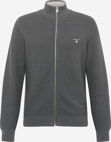 GANT Плетена жилетка в сиво