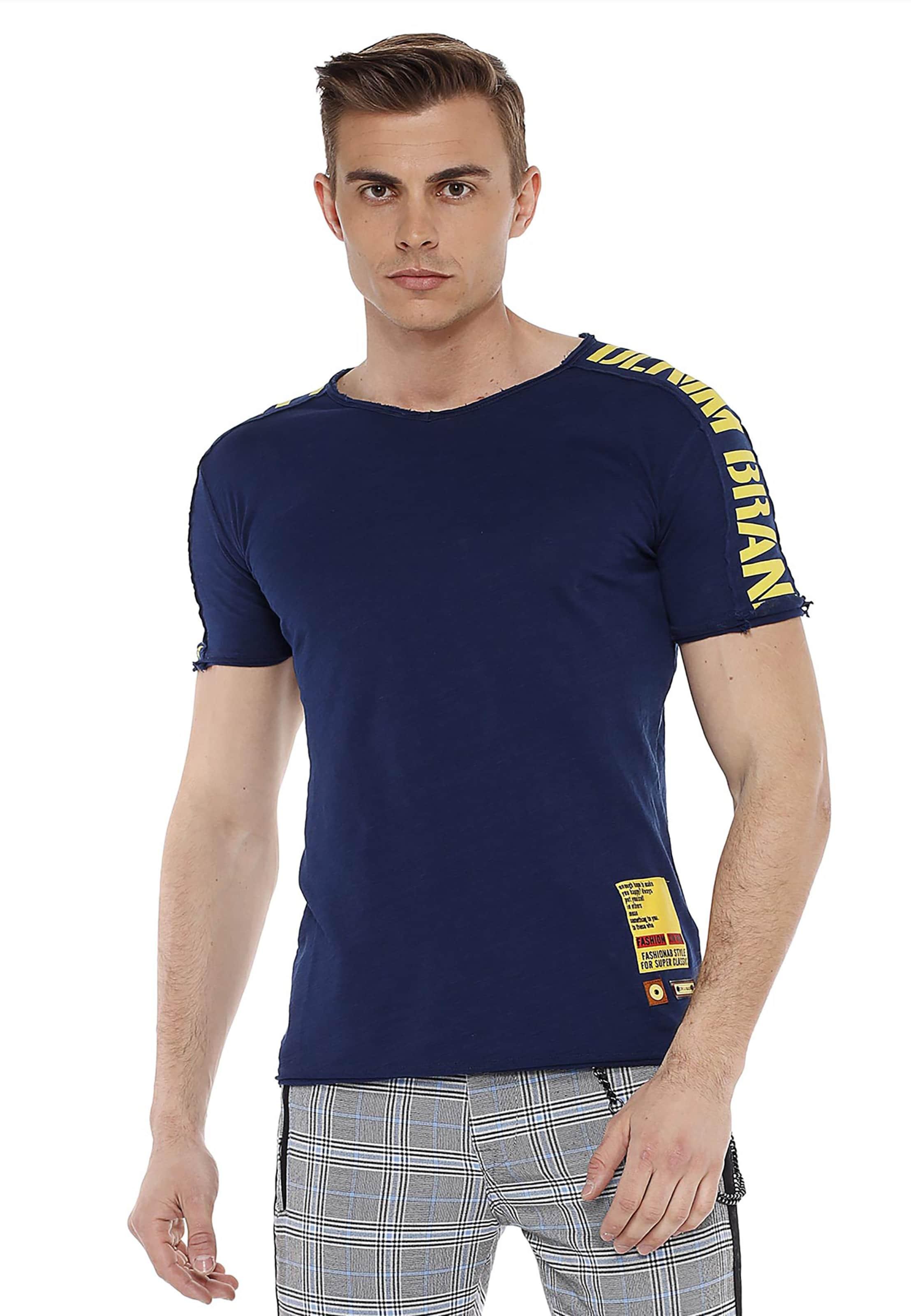CIPO & BAXX T-Shirt in blau Baumwolle 3293489