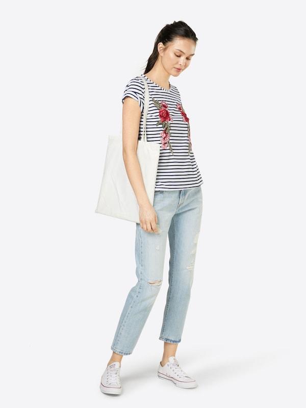 Boohoo T-Shirt 'Amelia Embroidered Stripe'