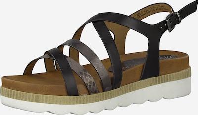 MARCO TOZZI Sandalette in schwarz / silber, Produktansicht