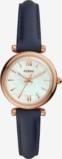 FOSSIL Uhr in kobaltblau / rosegold / weiß, Produktansicht
