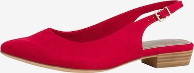 TAMARIS Slingpumps in de kleur Rood, Productweergave