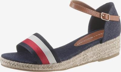 TOMMY HILFIGER Sandalette in blau / rot / weiß, Produktansicht