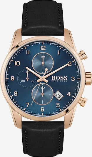 BOSS Casual Uhr'Skymaster' in enzian / rosegold / schwarz, Produktansicht