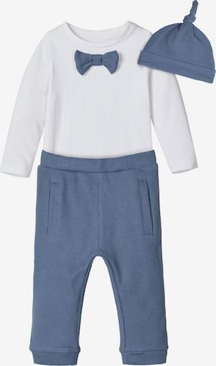 NAME IT Strampler und Hose Geschenk-Set in blau, Produktansicht