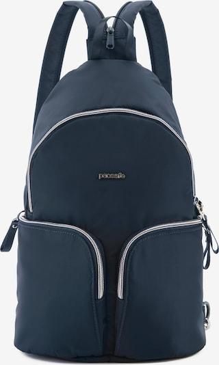 Pacsafe Rucksack in blau, Produktansicht