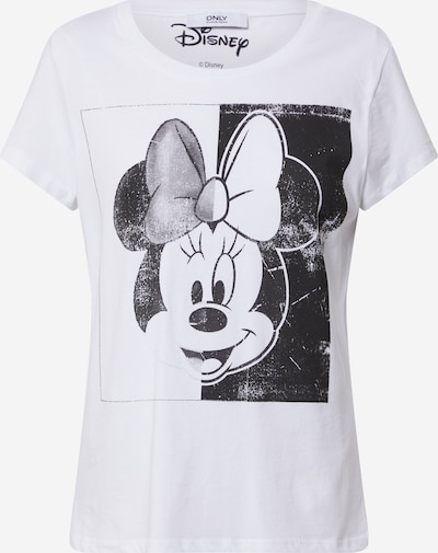 ONLY Shirt 'ONLMICKEY MINNIE FACE S/S T' in schwarz / weiß, Produktansicht