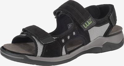 WALDLÄUFER Sandalen 'Helmer' in schwarz / weiß, Produktansicht
