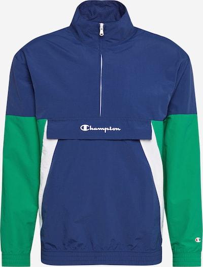 Geacă funcțională Champion Authentic Athletic Apparel pe albastru închis / verde iarbă / alb, Vizualizare produs