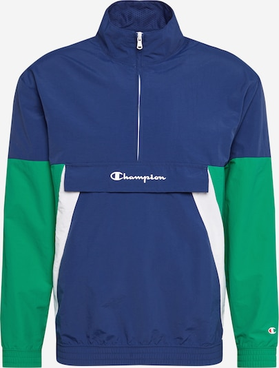 Champion Authentic Athletic Apparel Functionele jas in Donkerblauw / Grasgroen / Wit MadY9Ke4