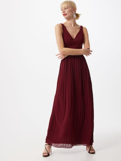 WAL G. Vestido de noche 'WG 8223' en rojo vino, Vista del modelo