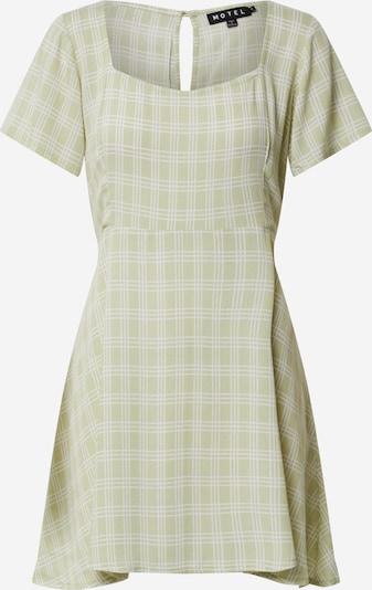 Motel Robe 'PEKY' en vert clair / blanc, Vue avec produit