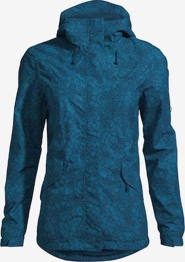 VAUDE Jacke 'Rosemoor Aop' in blau, Produktansicht