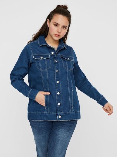 Vero Moda Curve Jacke in blue denim: Frontalansicht