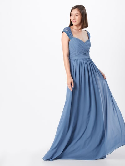STAR NIGHT Kleid in rauchblau: Frontalansicht