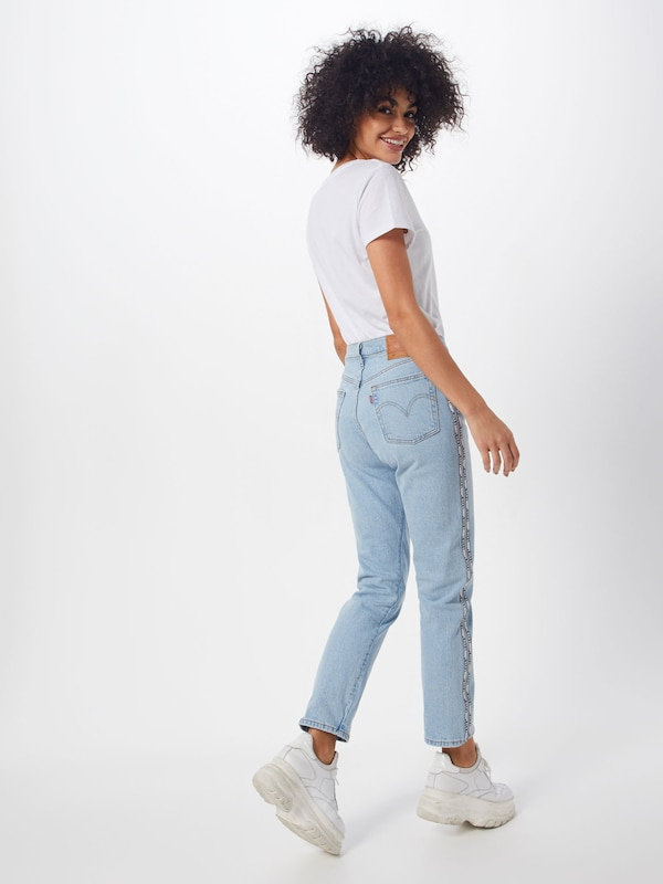 LEVI'S Jeans '501® CROP' in blue denim: Rückansicht
