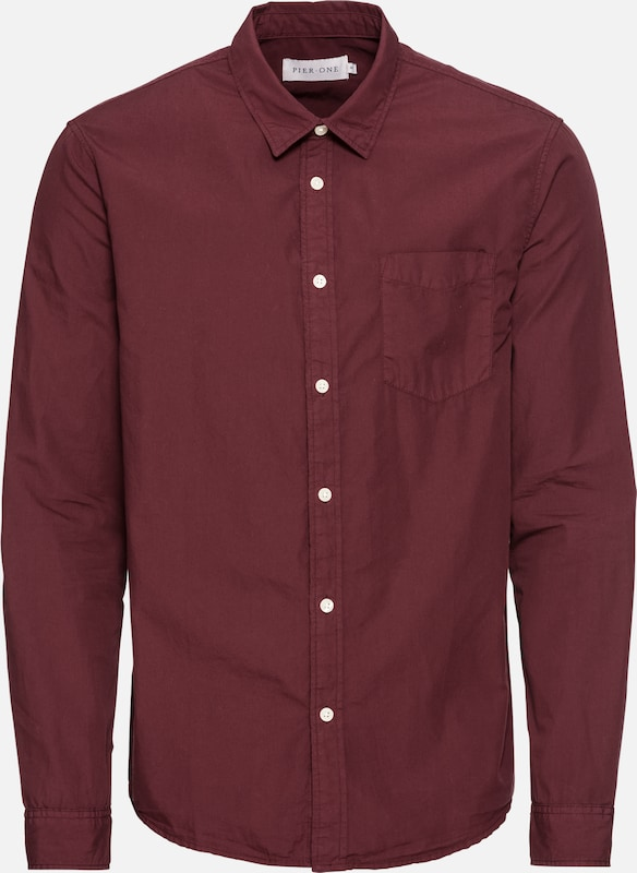 Poplin Shirt' Hemd One Bordeaux 'gmd Pier Uwv8Ztxq8