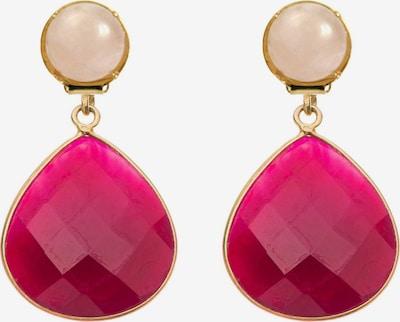 Gemshine Ohrringe in gold / rosa / rot, Produktansicht