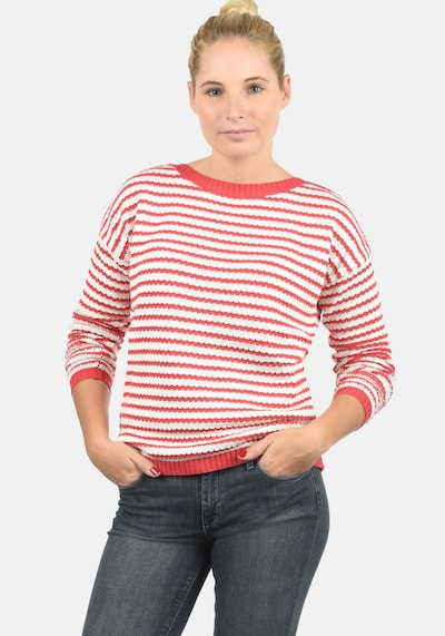 DESIRES Sweater 'Hilde' in Red / White, Item view