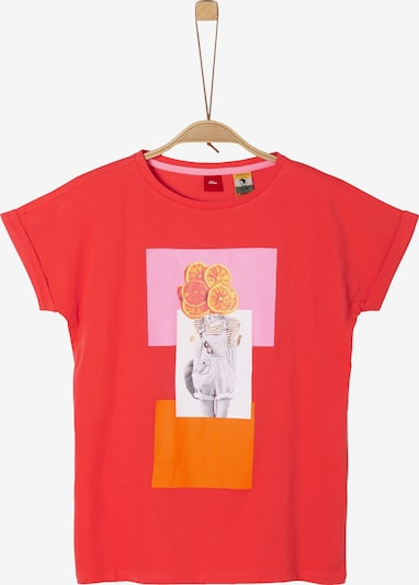 s.Oliver Shirt in orange / rosa / melone / weiß, Produktansicht