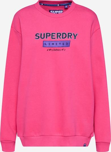 Superdry Sweat-shirt 'Ninties Applique' en violet / magenta / noir: Vue de face