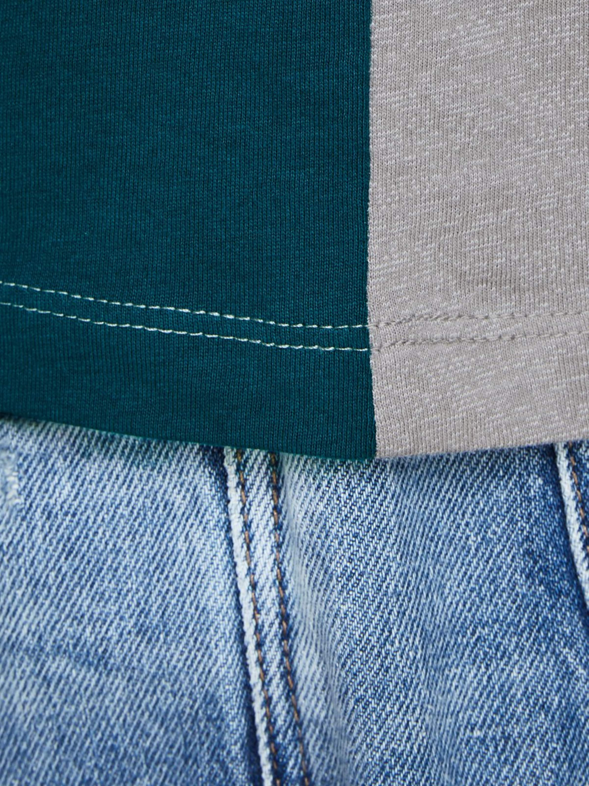 shirt UltramarinblauGraumeliert Jackamp; Colourblocking In T Dunkelgrün Jones TF13KJcl
