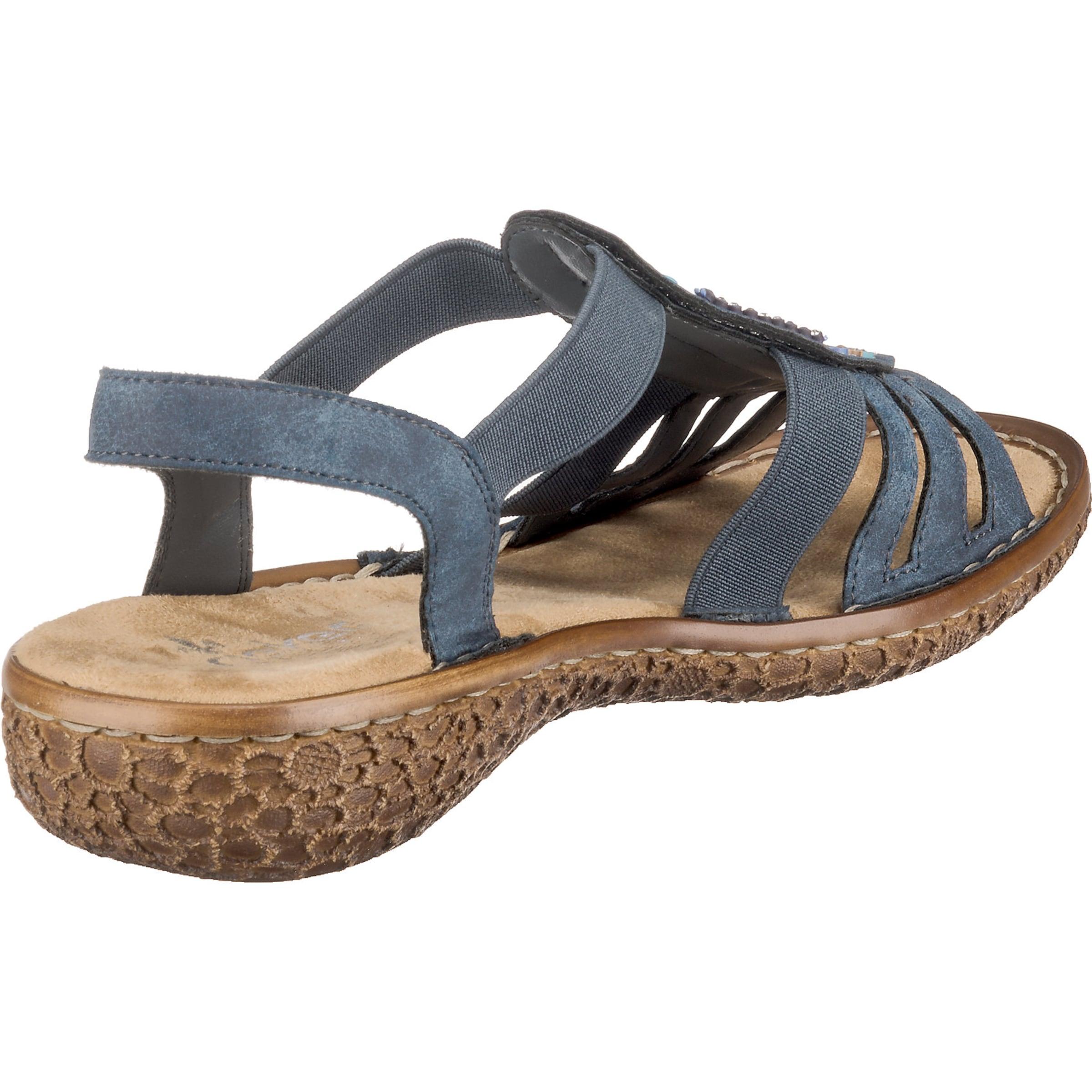 RIEKER Sandale in himmelblau / mischfarben