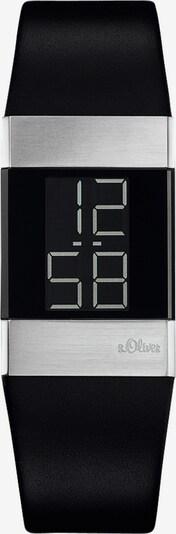 s.Oliver Armbanduhr in silbergrau / schwarz, Produktansicht