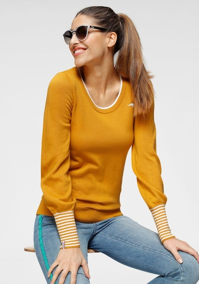 KangaROOS Pullover in safran, Modelansicht