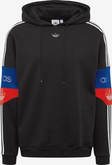 ADIDAS ORIGINALS Sweat-shirt en bleu / rouge / noir / blanc, Vue avec produit