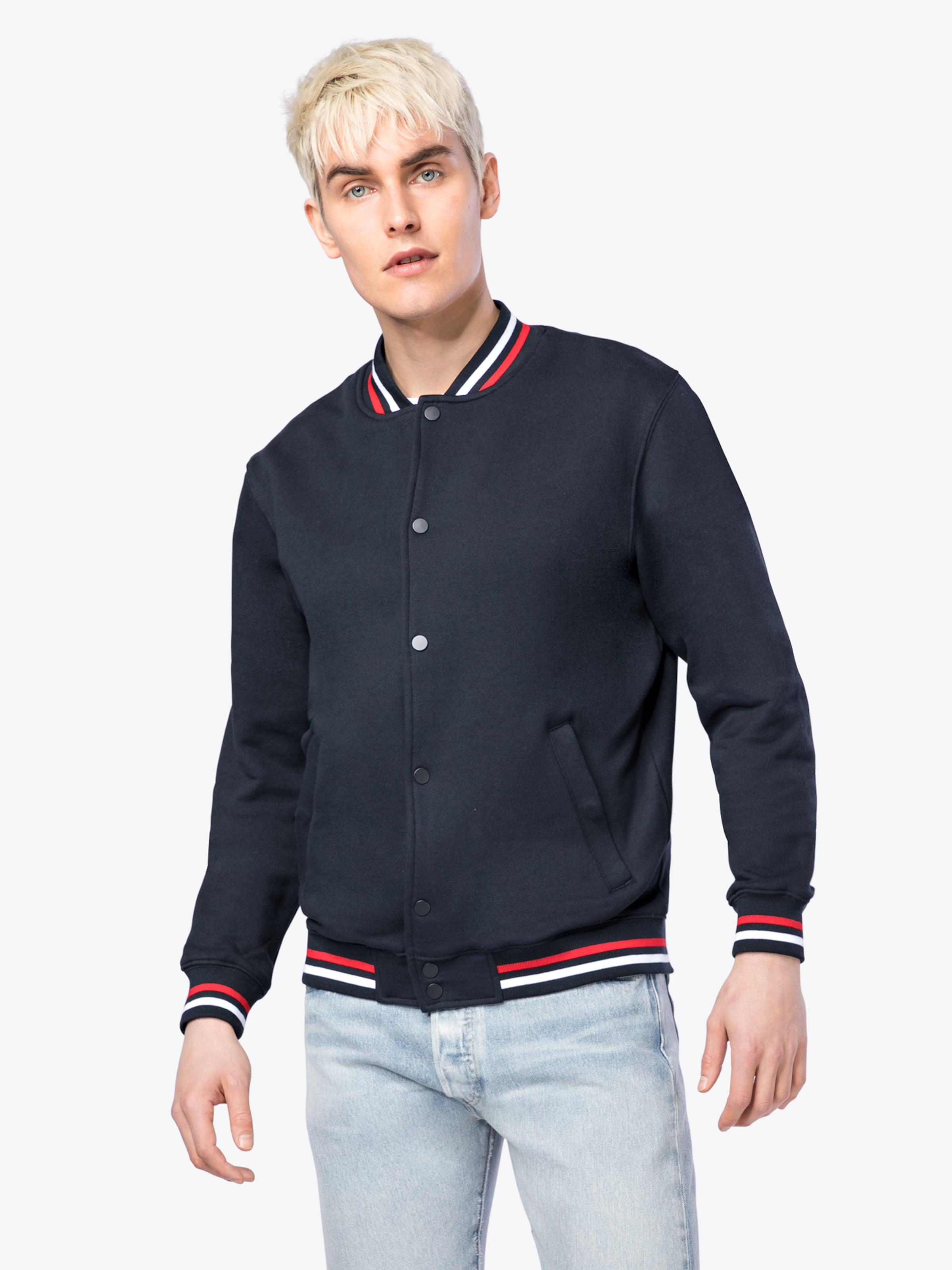 Unter 70 Dollar Online 100% Garantiert Urban Classics Jacke '3-Tone College Sweat Jacket' Billig Zahlen Mit Paypal Exklusive Verkauf Online Komfortabel Günstiger Preis YStgp1No2M