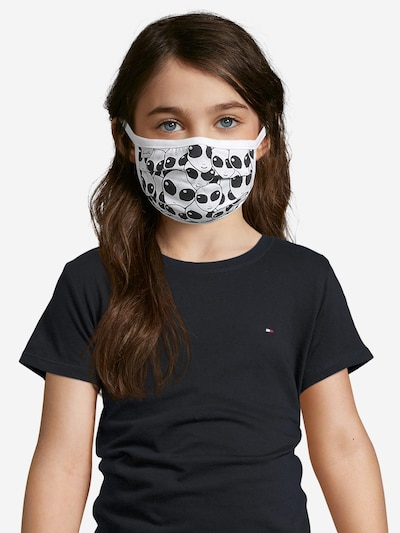 Sanetta Kidswear Stoffen mondkapje '2er Pack' in de kleur Zwart / Wit: Vooraanzicht