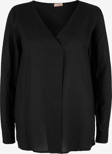 TRIANGLE Batistbluse in schwarz, Produktansicht