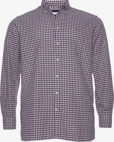 TOMMY HILFIGER Langarmhemd »BIG & TALL CLASSIC TEXTURED GINGHAM SHIRT« in dunkellila / weiß, Produktansicht
