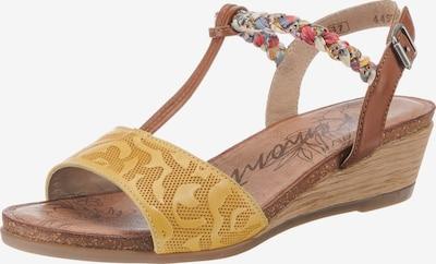 REMONTE Sandaletten in braun / gelb / mischfarben, Produktansicht