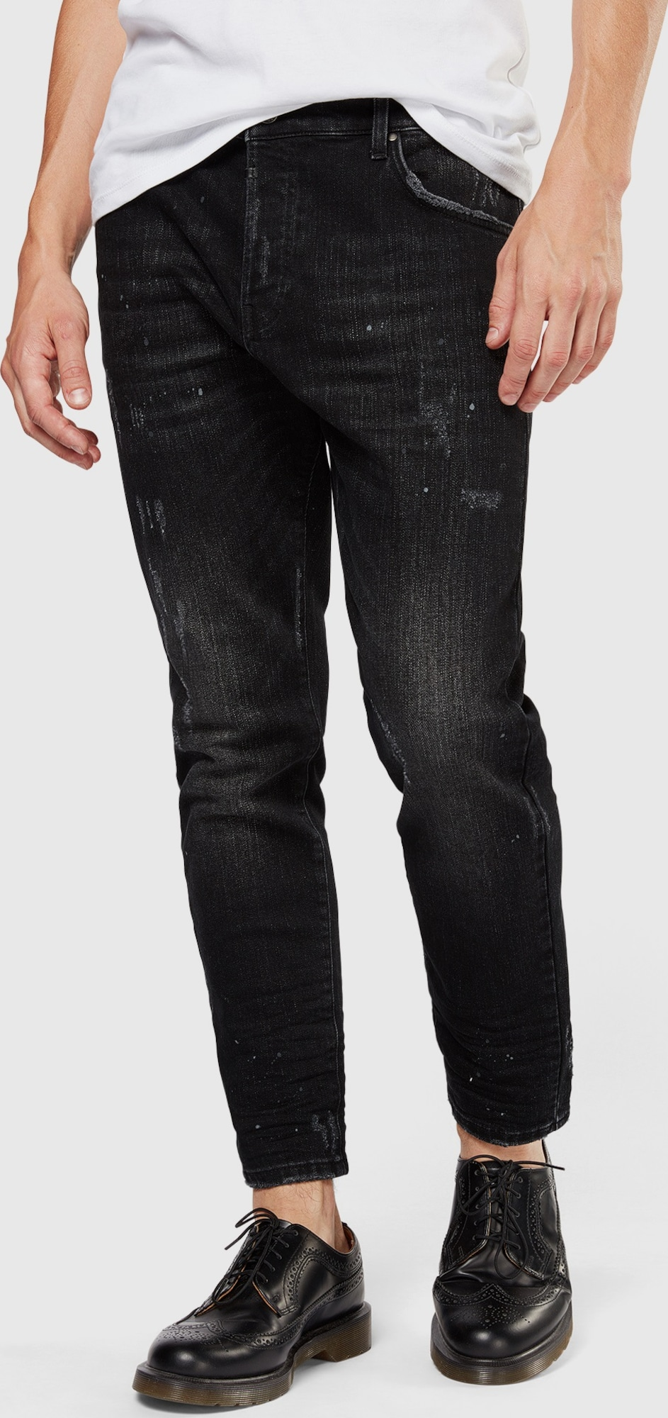 Citaten Weergeven Jeans : Tigha jeans billy the biker in zwart about you