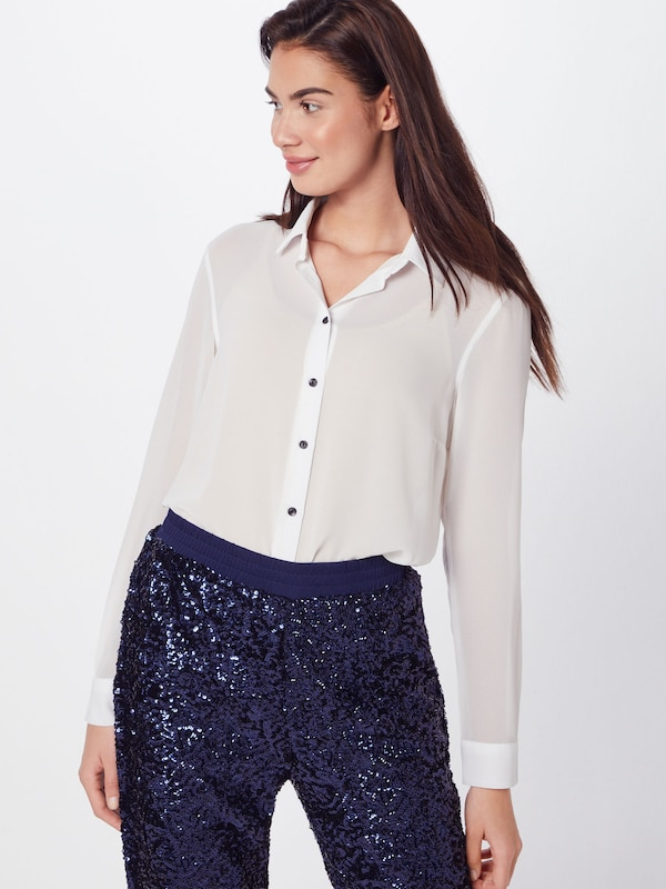 Li Blanc New Chemisier Ww Look 'f Plain Chloe Shirt' En 80nwOPk