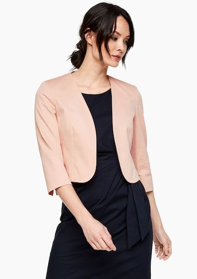 s.Oliver BLACK LABEL Kurzblazer in rosa, Modelansicht