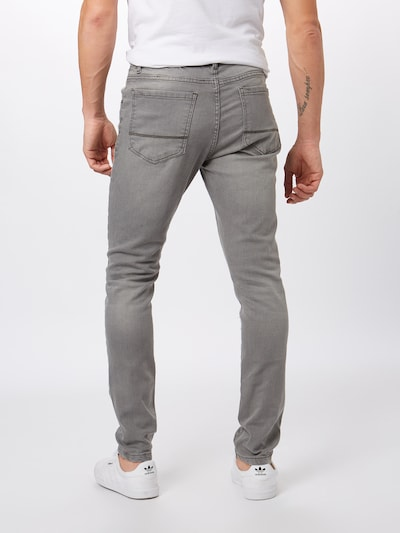 Džinsai 'Slim Fit' iš Urban Classics , spalva - pilko džinso: Vaizdas iš galinės pusės