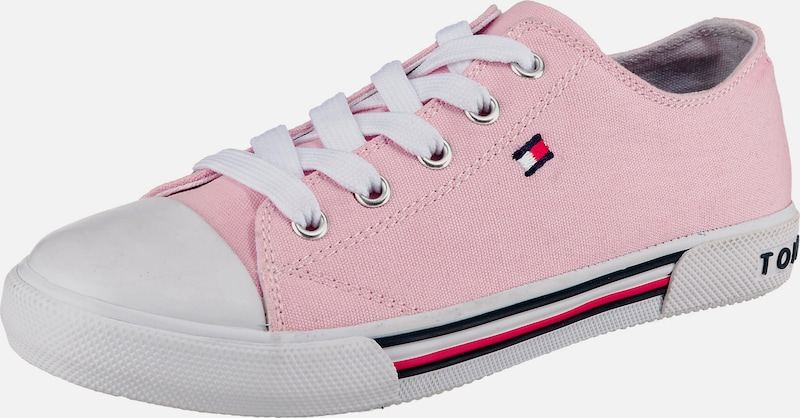 TOMMY HILFIGER Sneakers Low in rosa / weiß: Frontalansicht