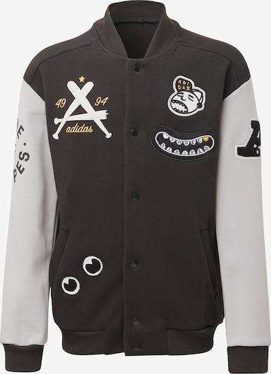 Bluză cu fermoar sport ADIDAS PERFORMANCE pe bej / maro / galben / negru, Vizualizare produs