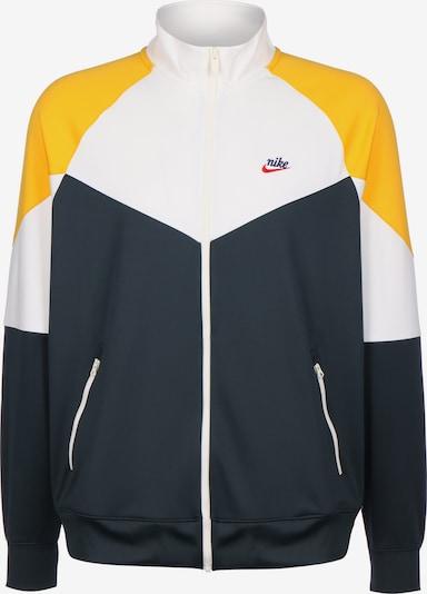 Nike Sportswear Veste mi-saison en bleu foncé / jaune / mélange de couleurs / blanc, Vue avec produit