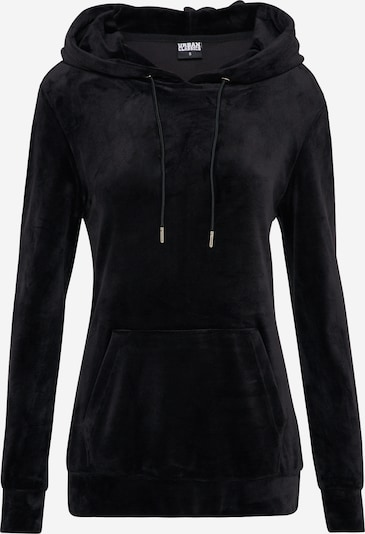 Urban Classics Hoody 'Velvet' in schwarz, Produktansicht
