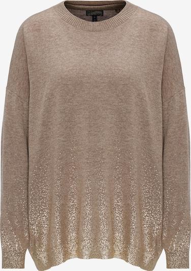 DREIMASTER Pullover in hellbraun / gold, Produktansicht