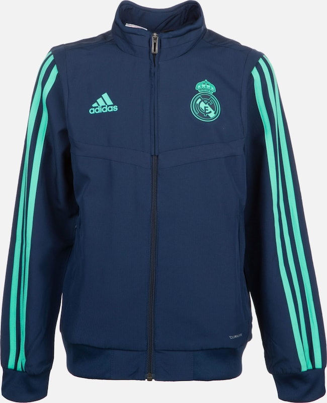 ADIDAS PERFORMANCE Präsentationsjacke 'Real Madrid' in blau / türkis, Produktansicht