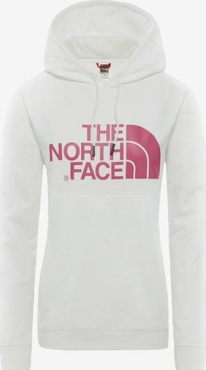 THE NORTH FACE Sweatshirt 'Drew Peak W' in pink / weiß, Produktansicht