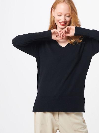 ICHI Pullover 'KAVA' in schwarz: Frontalansicht